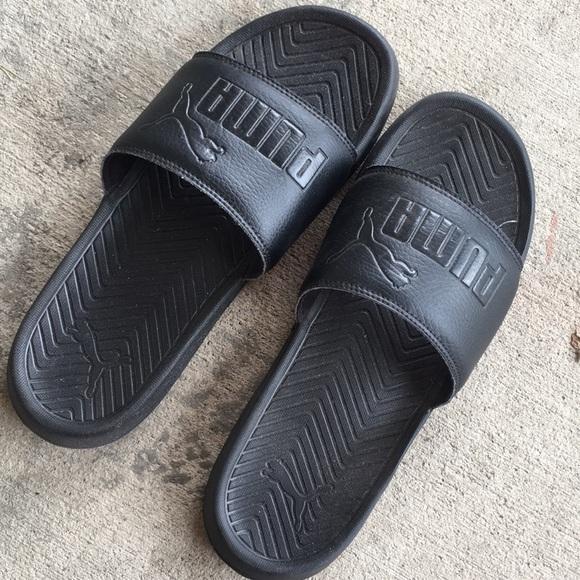 Puma Shoes | Mens Puma Black Slides